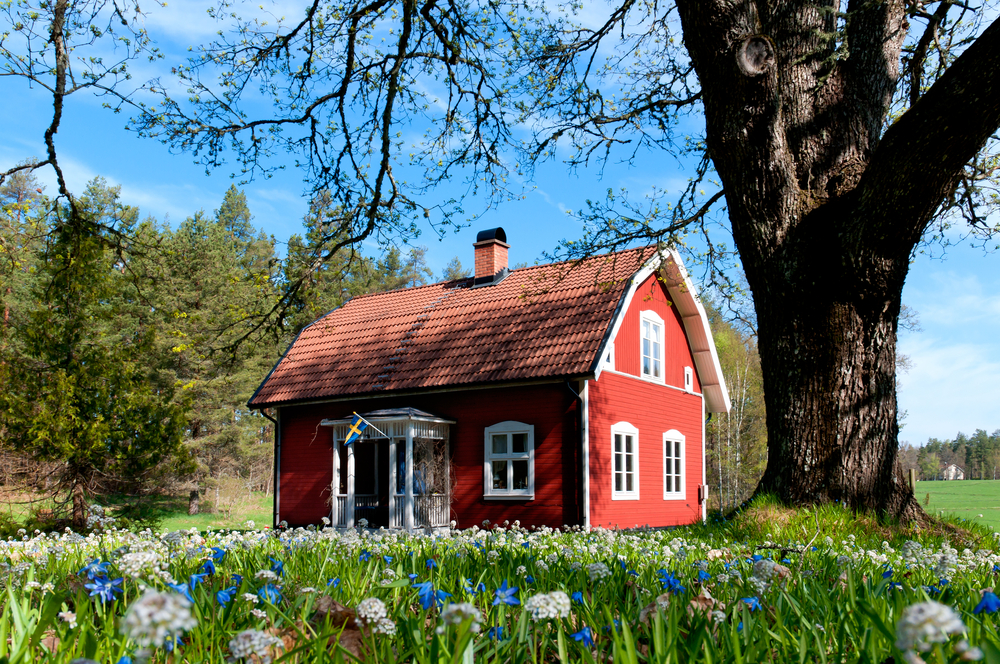 Typical red house in Sweden.