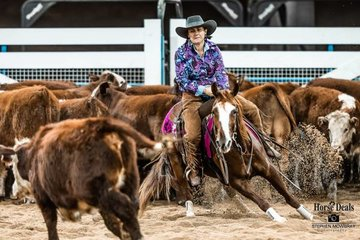 Kelly O'Toole and 'Annahs Smart Rey' in the Barastoc Amateur Non Pro Futurity Final