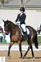 Victorian rider , Sarah May earned an Off The Track CCI 1 Star dressage score of 32.60 at the beginning of their tilt at a Melbourne International Three Day Event crown.
