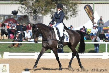 Gemma Tinney rode John and Jane Pittard's Donnerblitz mare, 'Annapurna' to second place in the Pryde's Easifeeds CCI 3 Star dressage phase with a good score of 29.60.