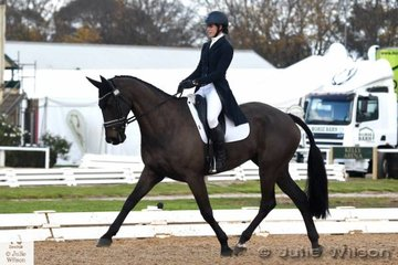 Jessica Rae holds seventh place in the Pryde's Easifeeds CCI 3 Star after the dressage phase riding her, 'Rascal' by Regardez Moi.