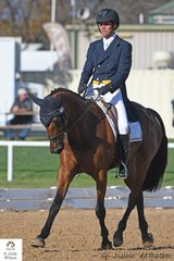 Robert Palm,  soon to jet off to Europe with Koko Story to try for WEG selection is pictured here during the Horseware Australia CCI 2 Star dressage phase riding Cassie Lowe's 'Jaybee Vibrant' by Vivant.
