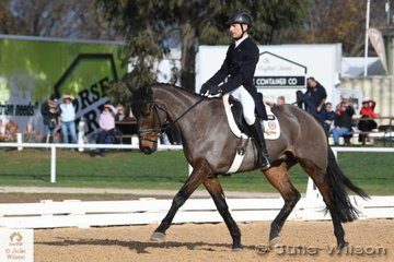 Popular and Successful rider and veterinarian, Rohan Luxmoore sits nicely in third place with 29.80 riding his , 'Bells 'N Whistles' by Ard Black Cat.