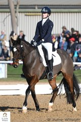Stephanie Ivanovic rode her , 'Mighty Tosca' to take fourth place after the dressage phase of the off The Track CCI1J with a score of 37.10.
