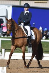 On a beautiful winters day, Melanie Bates rode her OTT Thoroughbred, Barbara Streisand in the dressage phase of the Off The Track CCI1*.