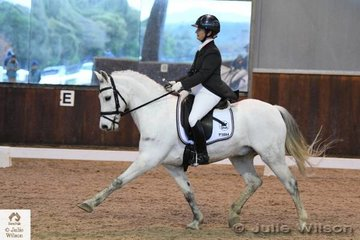 Louise Maguire rode her pony, 'Mithril  Vagabond' to take eighth place in the FEI Intermediate Intermediate 1.