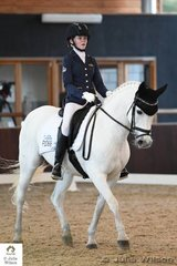 Caitlyn Porter rode her NSW bred and delightful, 'Marena Display' to win the FEI CDI-Pony Freestyle with 69.567%
