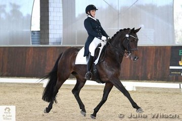 Holly Cutler rode her, 'Diva Royale' to take eighth place in the FEI CDI-W Grand Prix Freestyle with 69.130%.