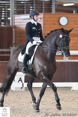 Rozzie Ryan had two rides in the FEI CDI-W Grand Prix Freestyle and is pictured riding, 'Jarrah R' that took third place with 71.625%.