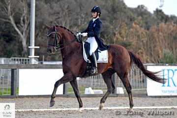 Talented young Victorian rider, Rebecca Woff rode her, 'Jazzari' to win the FEI Grand Prix CDN.
