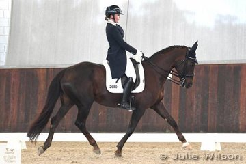 Brooke Mance rode , 'Callum Park Freya' to take second place in the FEI CDI-Junior Freestyle with 68.167%.