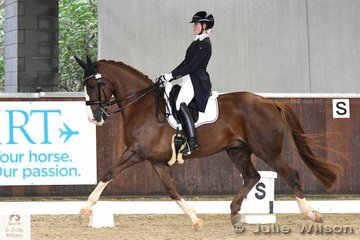 Micky Brae from Victoria rode her eye catching, 'Flowerdale Florenz' to win the FEI CDI-Y Freestyle with 70.292%.