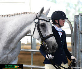 Stuartholme School's equestrian team captain, Emily Ballard and Celtic Gilligan keep busy in the led phase of the Secondary Working Hunter at their last Interschool State Championships.