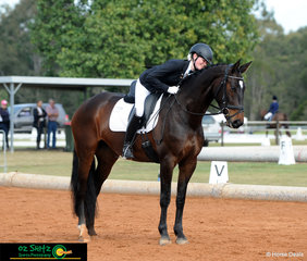 Nicola Bown and Kalimna Reality halt square after performing  beautifully in the Secondary Elementary class on Saturday.