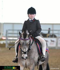 Representing The Glennie School in the Primary Show Hunter is Ellie Stenzel and Mollys Summerdel enters the ring to complete the rider phase.