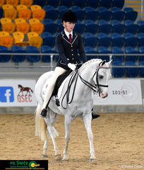 All the way from Roma, Micheala Bates is aboard Brendonna Puss in Boots in the Secondary Show Horse.