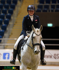 Freya Domrow exits the arena with a smile from ear to ear after a magical Advanced Freestyle test on Emmaville Decoy.