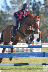 Georgie Cochrane and her, 'Oscar Laureate' riding for the Berrima Districta Pony Club in Zone 10 took second place in the 13 and Under 15 B Grade AM5.