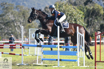 With heels down and eyes and ears up, Heidi Staples representing the Goulburn Pony Club from Zone 27 rode her well preformed, 'Statford Delight' to win the 13 and Under 15 B Grade AM5.