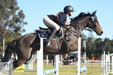 Molly Baker and 'Smarty Pants' from Quirindi Pony Club and representing Zone 5 took fourth place in the 13 and Under 15 A Grade AM5.