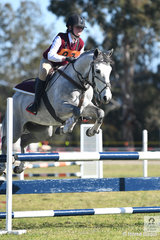 Mackenzie Harding and 'Kosciusko Red' from Jindabyne Pony Club and Zone 18 show the form that saw them win the 13 and Under 15 A Grade AM5 today.