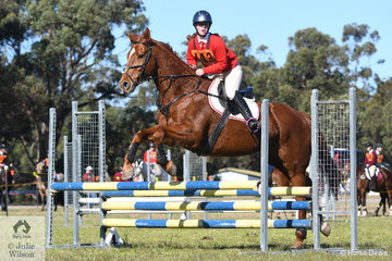 Hailey Lennon and 'Henry' representing the Yass Pony Club and Zone 16 took second place in the 15 and Under 17 years C Grade AM5.
