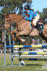 Nicole Kennedy and 'Astro Boy' from the Tall Timbers Pony Club in Zone 24 took third place in the 13 and Under 17 B Grade AM5.