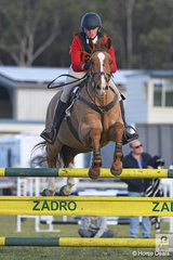 Emily Andres and 'Irish Clover' from the Bungendore Pony Club in Zone 16 took second place in the 15 and Under 17 B Grade AM5.