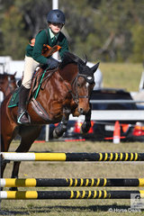 Jarrrah Goldrick and , 'Little Miss Muppet' representing Nambucca River District Pony Club and the winning Zone 9 show the form that saw them take fourth place in the class for Under 13 C Grade AM5#2.