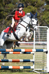 Arcadia Pony Club Member and Zone 23 representative, Madeleine Breatnaci rode her , 'Good Scout' to third place in the Under 13 C Grade AM5#2.