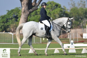 Michaela Bradley riding Finch Farm Jay P  placed third in the Elementary 3.3.