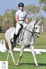 Bianca Twaddle riding Full Tilt won the Novice 2.2.