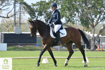Nicole Mutimer riding Riverdown Storm placed third in the Preliminary 1.2.