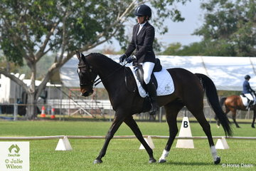Lorraine Scott and Royal Pride competed in the Preliminary 1.2.
