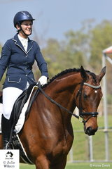 Anna Newlove looks pleased after her test aboard Magnificent Seven in the Elementary 3.3.
