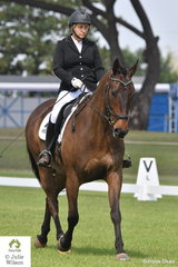 Alecia Brimson rode Swing Time Merlin to win the Elementary 3.2 and 3.2.