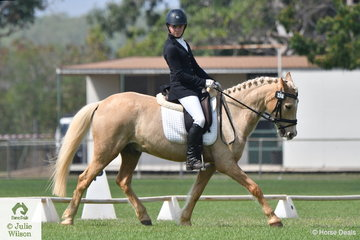Shayla Fattore rode Prince Spirt Talcum to win the Novice Pony 2.3 with a score of 72.2%.