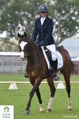 Teri Walker riding Al-Kareeme Hugo Boss took third place in the Novice 2.3.