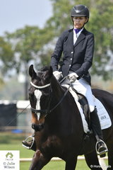 Megan Holzfiend rode Ever After to second place in the Novice 2.3.