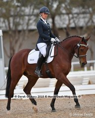"""""""FERSACE FF"""" ridden by Megan Cheeseman in the 4 Year Old Young Horse Class"""