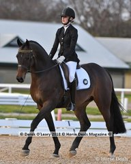 """FEARLESS FF""ridden by Jessica Dertell in the 5 Year Old Young Horse Class"