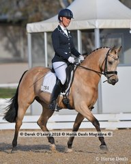 """GLENIPH TIRAMISU"" in the 6 Year Old Young Pony ridden by Megan Cheeseman"