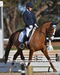 """""""ROSABAYA DDS"""" ridden by Diane Humm in the Elementary 3.2"""