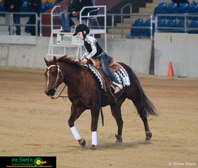 Giving it their best try in the Short Stirrup Class was Dualin Gal and Layla Gould.