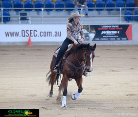 Jessica Miller competes on her beautiful horse Smart Lil Captain in the Limited class.