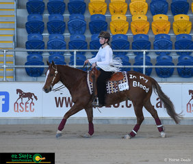 Reining is definitely in their blood, Amelia Baker and A Hollywood Whiz step out into the competitive field of the freestyle on final day of the Queensland State Reining Show.