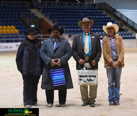 The reining judges, Bub Poplin (USA) and Darren Simpson (QLD) definitely worked hard over the four days watching all the competitors complete their patterns.