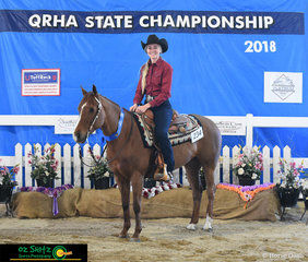 After travelling all the way over from the States on her university break and tying for first place with fellow competitor Greg Walker was Clancy E Erlin riding Topsal Roc in the Junior Horse Non Pro.