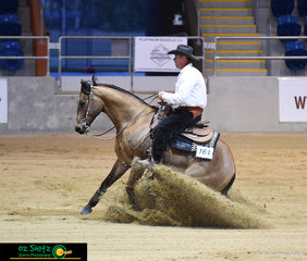 Smokin Sheriff and Scott Burnett complete a wonderful pattern in the Open.