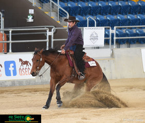 Sliding into heir very first reining show was Michael Toohey and Cooper Get Crackin and they had some outstanding results in the Intermediate Non Pro and Limited Non Pro Futurity.